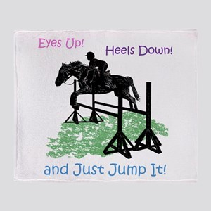 Fun Hunter/Jumper Equestrian Horse Throw Blanket